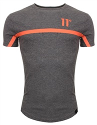 11degrees Charcoal & Orange Reflective Tee