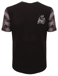 Kings Will Dream Black Zomer Camo Sleeve Top