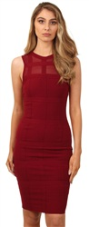 Girl In Mind Burgundy Bandage Dress