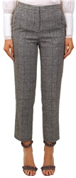 Parisian Grey Check High Waist Trouser