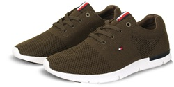 Hilfiger Denim Olive Mesh Trainer