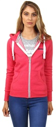Superdry Pink Primary Zip Hoody