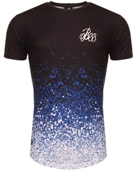 Bee Inspired Black, Royal & White Bowen Splatter Fade Tee