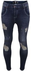Siksilk Denim Midstone Frayed Distressed Skinny Jeans