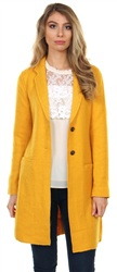 Only Yolk Yellow New Ella Wool Coatigan