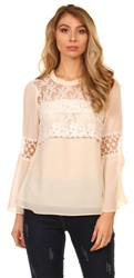 Style London Cream Lace Top