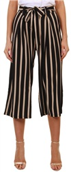 Missi Lond Black Stripe High Waist Trouser