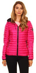 Superdry Pacific Pink Core Down Hooded Jacket
