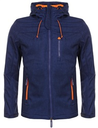 Superdry Royal Marl/Orange Hooded Windtrekker