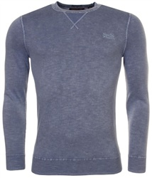 Superdry Sunbleached Blue La Crew Sweater