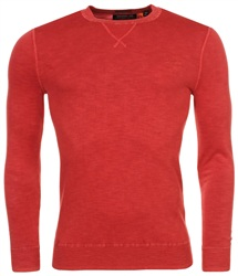 Superdry Washed Pillar Red La Crew Sweater
