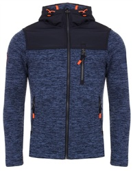 Superdry Denim Marl/Navy Storm Mountain Ziphood