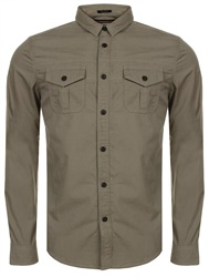 Superdry Sahara Stone Rookie Long Sleeve Shirt