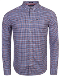 Superdry Blue Gingham University Oxford Shirt