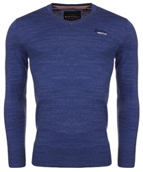 Superdry Azure Blue Grindle Orange Label Vee Neck Jumper