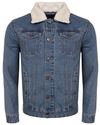 Brave Soul Light Stone Wash Denim Jacket