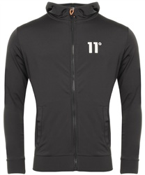 11degrees Smoke Poly Zip Hood