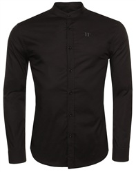11degrees Black Grandad Shirt