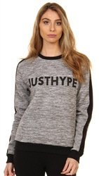 Hype Grey Black Crewneck Sweat