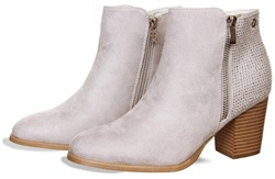 Xti Grey Ankle Boot