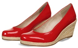 Marco Tozz Chilli Patent Patent Wedge Shoe