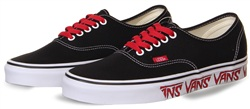 Vans Black-Red Sketch Sidewall Authentic Shoes