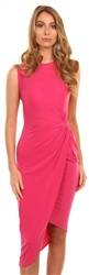 Wal/G Fuschia Crepe Twist Dress