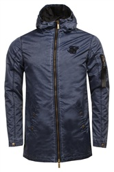 Siksilk Navy Jacket
