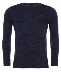 Superdry Riva Blue Grindle Orange Label Crew Sweater