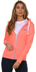 Superdry Starburst Coral Snowy Orange Label Primary Zip Hoodie