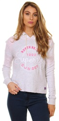Superdry Ice Marl Applique Crop Hoodie