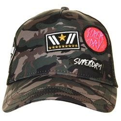 Superdry Patched Camo Camo Trucker Cap
