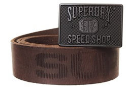 Superdry Dark Brown Eastern Belt