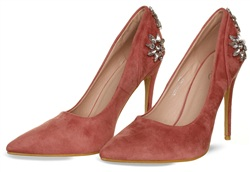 No Doubt Blush Suede Heels