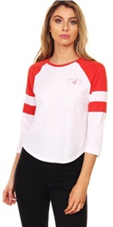 Jack Wills Red Brombie Raglan Tee
