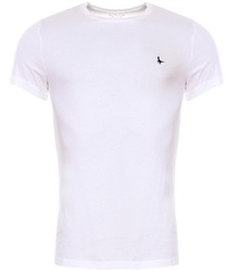 Jack Wills White Sandleford Basic Short Sleeve T-Shirt