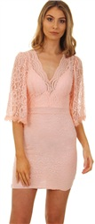 Wal/G Nude Lace Dress