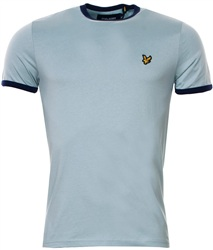Lyle & Scott Powder Blue Ringer Plain Tee