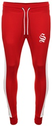 Sinners Attire Red Poly Track Joggers