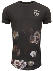 Siksilk Antique Rose S/S Curved Hem Fade Tee