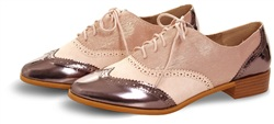 Redz Rose Gold Metallic Brogue