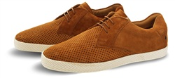 Base London Tan Keel Textured Shoe