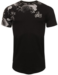 Bee Inspired Black Floral Avers Tee
