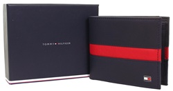 Hilfiger Denim Navy & Red Pop Stripe Mini Cc Wallet