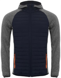 Jack & Jones Grey Melange & Sky Navy Hybrid Quilted Jacket