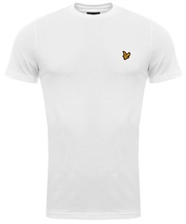 Lyle & Scott White Crew Neck T-Shirt