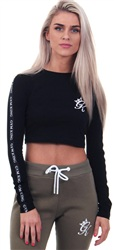 Gym King Black Envy Cropped Tee