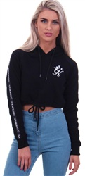 Gym King Black Envy Crop Hoodie