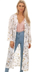 Style London Cream Kimono Printed Top