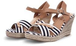 Redz Navy Wedge Sandal